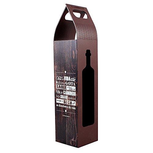 Suporte de garrafa para vinho curta a vida