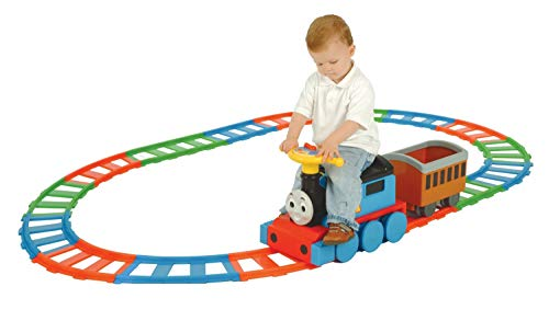 (Ride On Train and 22 Piece Track Set.)