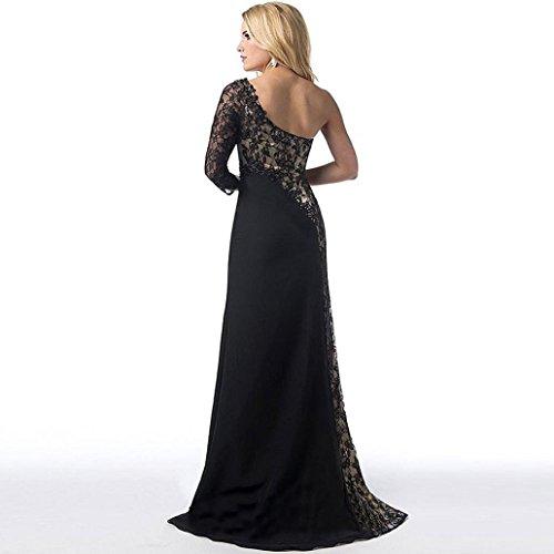 de Negro de mujeres Honor Dama Baile Vestido fiesta Vestido mujer largo Para coctail largos de Vestido Formal Boda Vestido Amlaiworld H4ZFfqwn