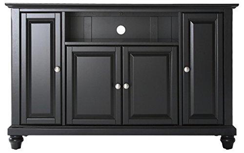 Crosley Furniture Cambridge 48-inch TV Stand - Black - Rubbed Black Tv