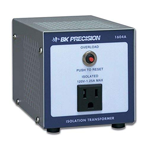 B&K Precision 1604A Single Output Isolation Transformer, 4'' H x 4'' W x 5.5'' D