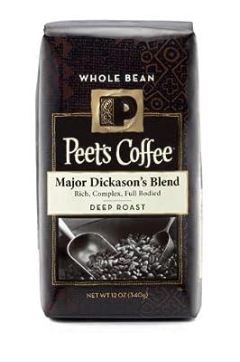 Peet's Coffee, Major Dickason's Blend, Whole Bean Coffee, 12oz Bag (Pack of 2)