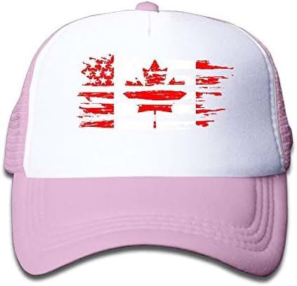 AEO USA Canada Flag Boy & Girl Baseball Caps Mesh Hats Printing Sunhats