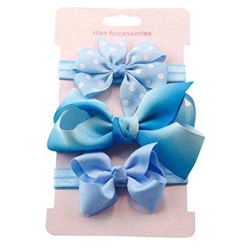 Amanod 2018hotsale3Pcs Kid Elastic Floral Hair Girls baby Bow Hairband Set from Amanod