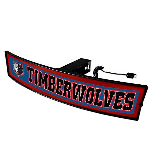 CC Sports Decor NBA - Minnesota Timberwolves Light Up Hitch Cover - 21''x9.5'' by CC Sports Decor
