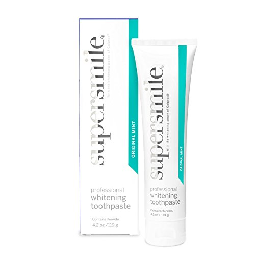 Supersmile Professional Teeth Whitening Toothpaste – Clinically Proven to Remove Coffee Tea Wine Tobacco and Food Stains to Whiten Teeth Up to 6 Shades – SLS and Silica Free – Original Mint 4.2 Oz