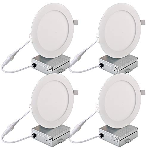 Hykolity 15W 6 Inch LED Slim Recessed Ceiling Light, 960lm CRI90, 3000K Warm White, Low Profile Downlight with Juction Box Dimmable, ETL& Energy Star Listed 4 Pack by hykolity