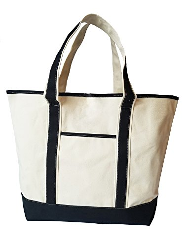 Deluxe Canvas Tote Shoulder Messenger Beach Bag, 22