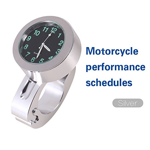 Motorcycle Clock Universal Waterproof Handlebar Watch Billet Aluminum Motorcycle Handlebar Clock Motorcycle Watch Fit for Most of the Motorcycle/Cruiser/Chopper/Custom with 7/8