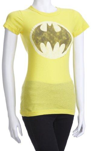 Junk Food - Camiseta de Batman para mujer Amarillo claro (Bright Yellow)