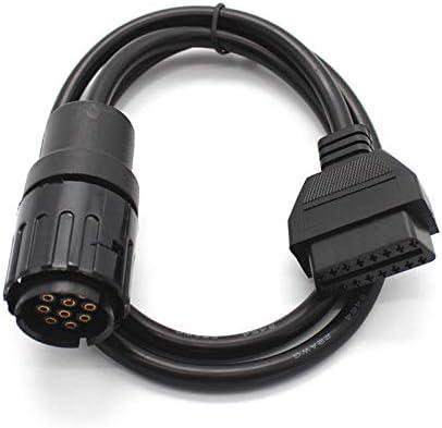 C/âble dAdaptateur Keenso OBD2 Convertisseur C/âble 20 Broches /à 16Broches Connecteur de C/âble de Scanner Rond Diagnostic pour E36 E38 E39 E46 E53 X5 Z3