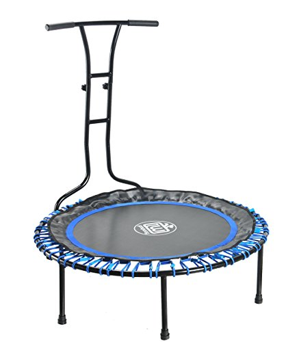 LONGWAY Trampoline In-Home Mini Exercise Trampoline Fitness Bungee Jump Mat by LONGWAY