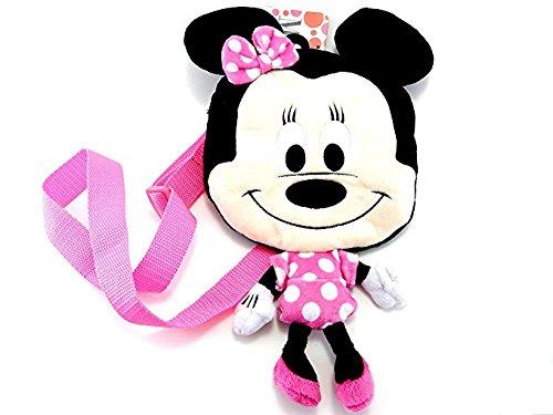 Disney Minnie Mouse Plush Messenger Bag Pink Dress