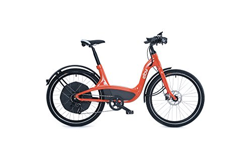 "Elby Bike 9 Speed Electric Bike, Orange, 16.5""/One Size"