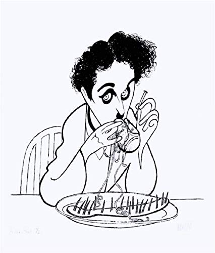 Al Hirschfeld's CHARLIE CHAPLIN: GOLD RUSH (SILVER EDITION) Hand Signed Limited Edition Lithograph