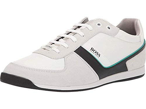 Hugo Boss BOSS Men's Glaze Low Profile Sneaker by BOSS 1 Open White 10 D US