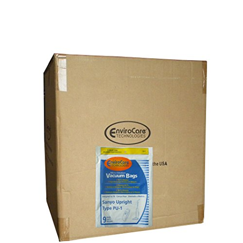 225 Sanyo Upright Pu-1 with Closure Vacuum Bags, Panasonic, Kenmore, LG slimax Vacuum Cleaners, SC54A, SCA4, SCA41, SCA42, SCA4A, VU5545-65