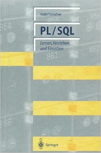 Book PL/SQL: Lernen, Verstehen und Einsetzen