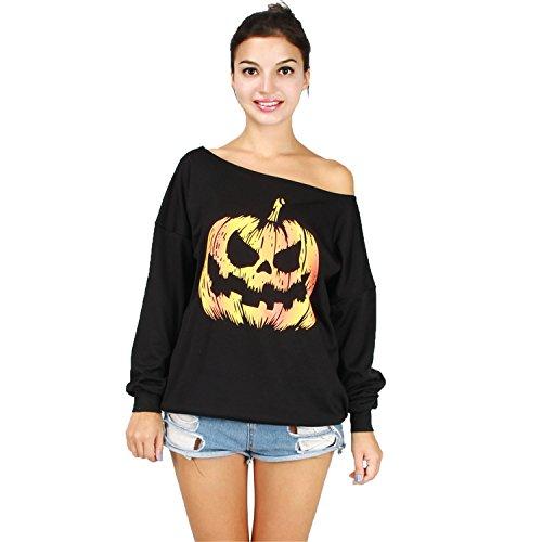 Wellwits Womens Oversized Shoulder Sweatshirt