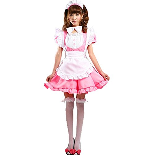 COCONEEN Cute Lolita Anime Cosplay French Maid Costumes 8-10 ()