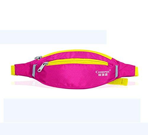 New ProductMens Womens Waterproof Nylon Outdoor Waistpack Sports Gym Running Biking Jogging Hiking Waist Chest Bag Money Belt Bum Bag Fanny Packs by Generic