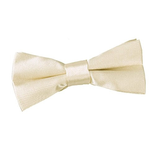Bow Formal Wedding Tie Pre tied Champagne Boys DQT Plain Satin Tuxedo x1RT4q8