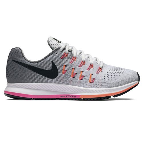 NIKE Women's Air Zoom Pegasus 33 Pr Pltnm/Blk Cl Gry PNK BLST Running Shoe 8 Women US