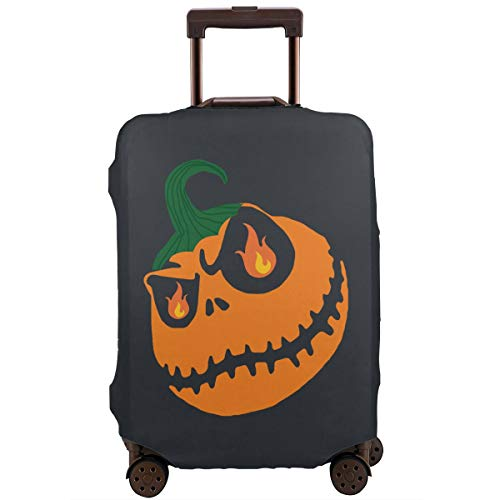 MKJIH Halloween Pumpkin Travel Suitcase Protector Zipper Suitcase Cover Baggage Suitcase Protector Cover Fit 18-32 Inch -
