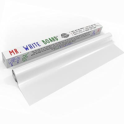 Dry Erase Wall Decal [Life of the Party] Over 6 Ft of Adhesive Whiteboard Turns Any Surface Into Monthly White Board Calendar or Weekly List