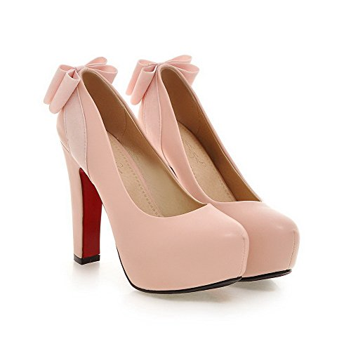 Pinkki Päälle Pu Naisten Yksilankaista Suljetun Weipoot Korkokenkiä kengät Toe Vedettävä Pumput vRF5SSwq