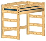 Loft Bed Woodworking Plan (not a bed) to Build Your Own Twin-Size Standard Loft