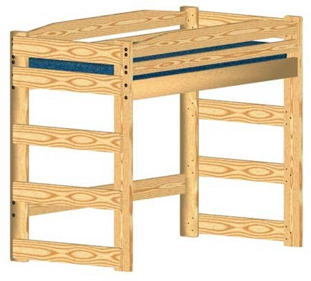 Loft Bed DIY Woodworking Plan to Build Your Own Twin-Size Standard Loft - Finished Loft Bed