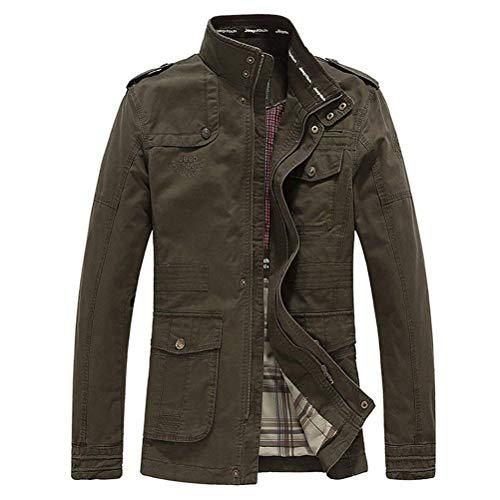 Chic Chaqueta Abrigo De Algodón Otoño Para Cortavientos Mieuid Grün Clásica Jacket Hombre x4fAWwATqc