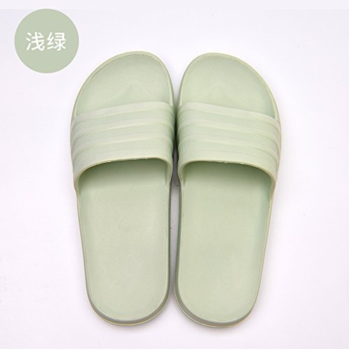 Black and and Cool Light Women Slippers fankou Female Light Slippers 36 Men Bath Green Men 35 and Tasteless Summer Household Home Foam Indoor Bottom for Soft qAPxA05