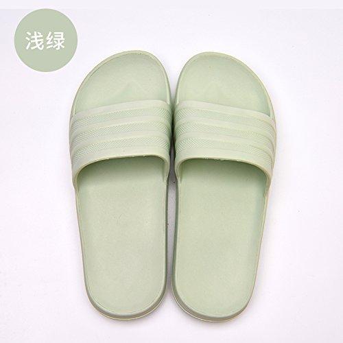 fankou Foam Cool Slippers Summer Female Soft Bottom Black Household Indoor Light and Tasteless Home Bath Slippers for Men and Women, Men and,39-40, Light Green