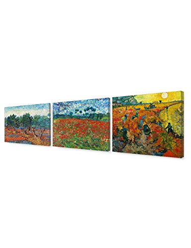 (Van Gogh Orchard Series) , Vincent Classic Art Reproduction. Giclee Canvas Prints Wall Art for Home Decor 30x24
