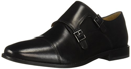 Florsheim Men's Montinaro Double Monk Oxford, Black, 13 D US ()