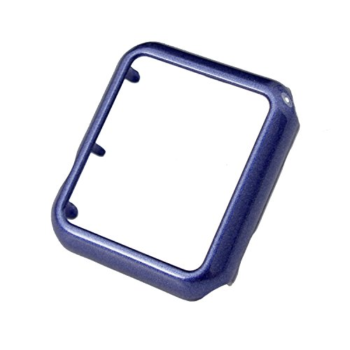 Moretek Hard PC Build Watch Protector Cover Case for Apple Iwatch (38mm Dark Blue Tpu)