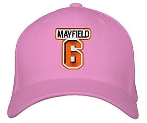 Baker Mayfield Hat - Cleveland Football Adjustable Women's Cap (Pink)