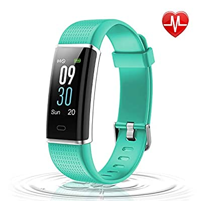 Letsfit Fitness Tracker Color Screen, IP68 Waterproof Heart Rate Monitor Activity Tracker, Pedometer Watch Sleep Monitor Step Counter for Kids Women Men, Android iOS Smart Phones
