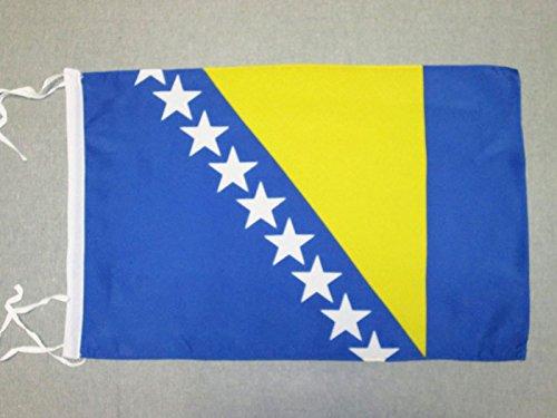 AZ FLAG Bosnia Herzegovina Flag 18'' x 12'' Cords - Bosnian Herzegovinian Small Flags 30 x 45cm - Banner 18x12 in ()