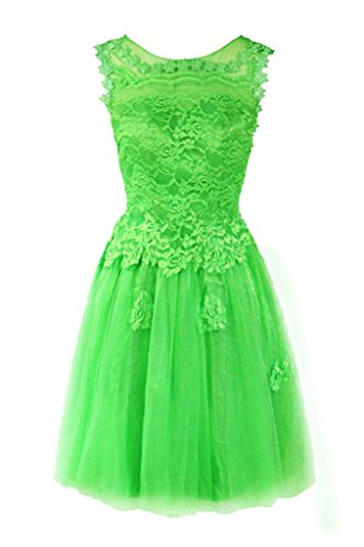 Dresstore Women's Short Homecoming Lace Prom Cocktail Party Dress for Juniors Green US 24Plus