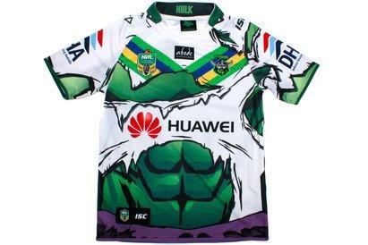 dbe0b9a0203 Canberra Raiders 2014 NRL Hulk Marvel Ltd Edition S/S Replica Rugby Shirt -  size 3XL: Amazon.co.uk: Clothing