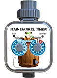 Rain Barrel Timer, Zero Pressure, Solar Panel, Rain Sensor