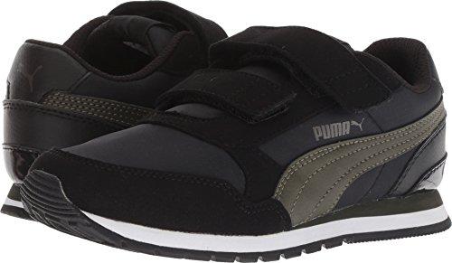 PUMA Unisex ST Runner NL Velcro Kids Sneaker, Black-Forest Night, 1.5 M US -