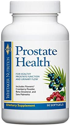 Dr. Whitaker s Prostate Health with Saw Palmetto Extract, Flowens Cranberry Powder and Beta Sitosterol to Support Prostate Function, Bladder Health, and Promotes Peak Urinary Flow, 90 softgels
