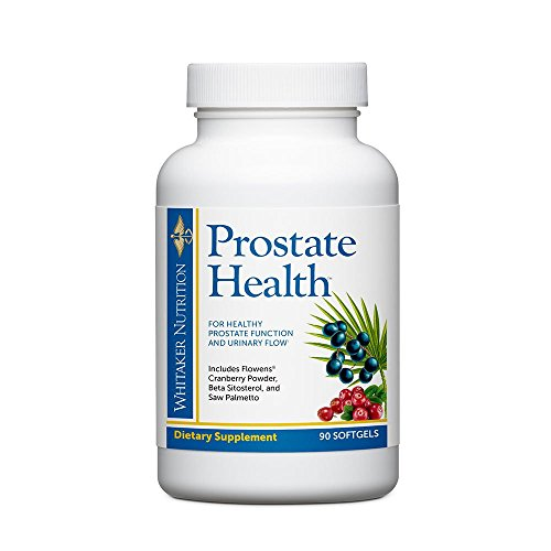 Dr. Whitaker's Prostate Health with Saw Palmetto Extract, Flowens Cranberry Powder and Beta Sitosterol to Support Prostate Function, Bladder Health, and Promotes Peak Urinary Flow, 90 softgels ()