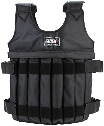 33//77lbs Adjustable Weighted Vest Running Sport Fitness Training Boxing Exercise