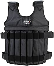 Weighted Vest, 20KG/44LB Adjustable Strength Training Vest Running Exercise Boxing Fitness Weightloading Sand