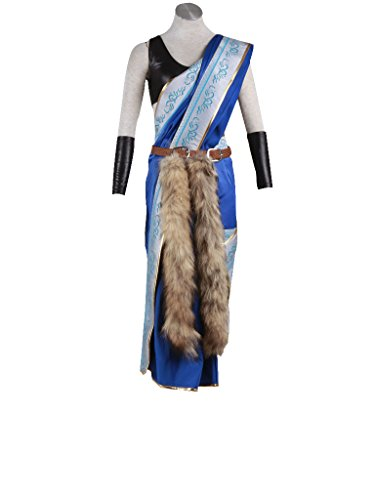 Mtxc Women's Final Fantasy XIII Cosplay Costume Oerba Yun Fang Size Medium Blue (Fang Final Fantasy Costume)